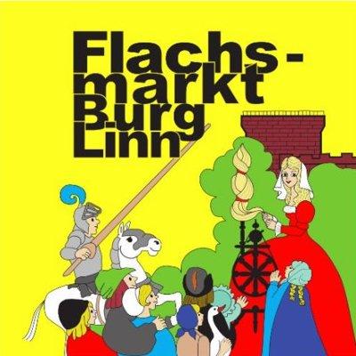 Logo Flachsmarkt Krefeld / Burg Linn